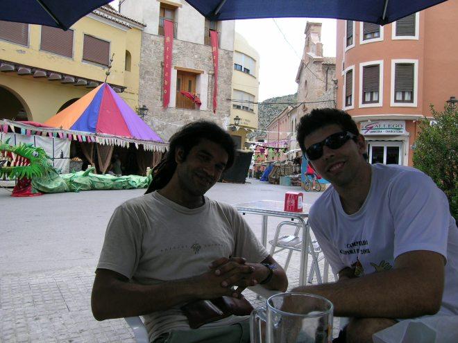 Raul e eu no centro de Jerica
