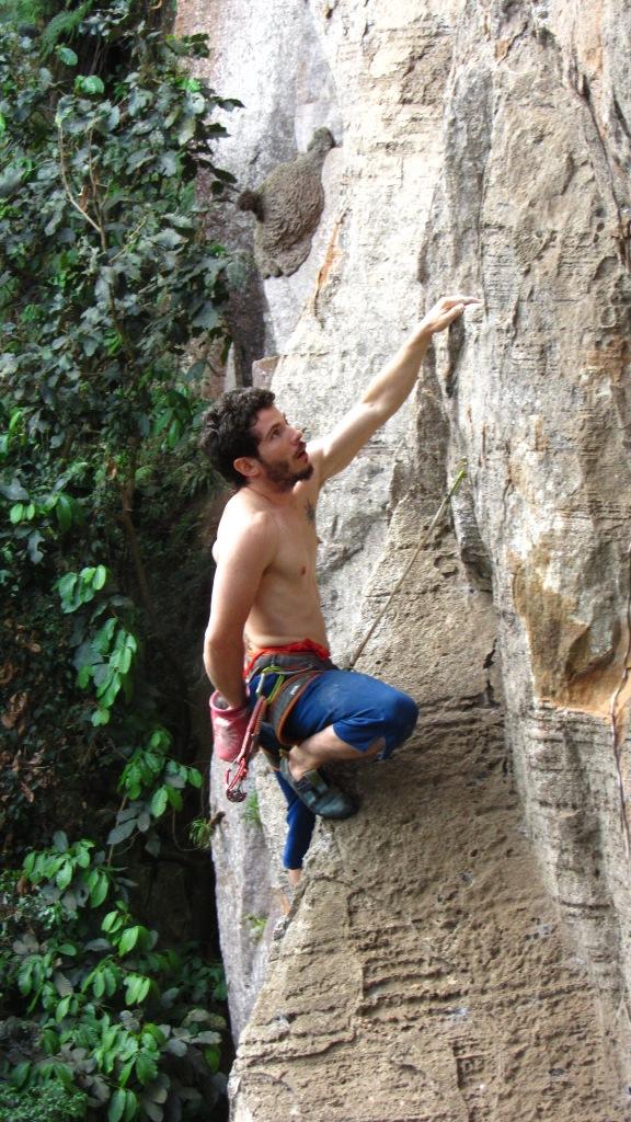 Climbing repel sex rope rock video