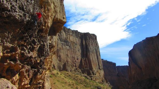 Uma das vias mais clássicas do pico...