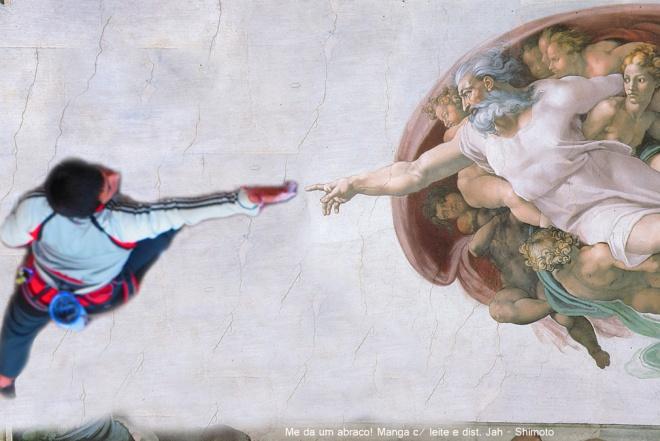 """Obra de arte do Pintor Michelangelo: Obra só teria sido concluida contanto que os corpos dos homens nus estivessem """"se tocando"""""""