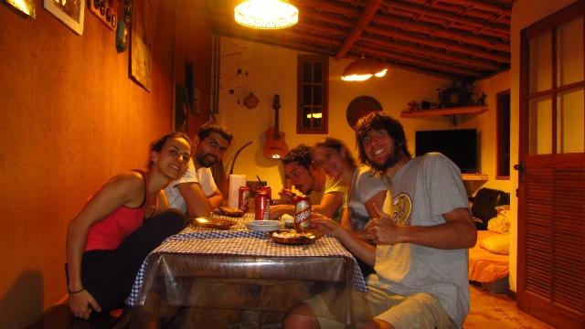Isa, Genja, Beto, Julia e Seba - Os integrantes do SCPT nessa Trip