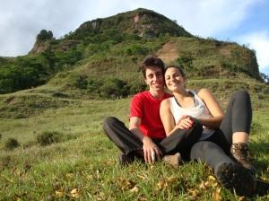 Gui e Bia: cansados, sujos e felizes!