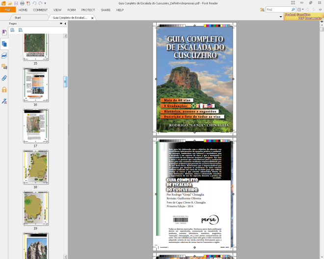 Guia Completo de escaladas do Cuscuzeiro - Já na gráfica, em breve, na Quero Escalar!