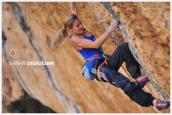 A escaladora Sasha DiGiulian corre cerca de 4 dias por semana para manter a resistência.