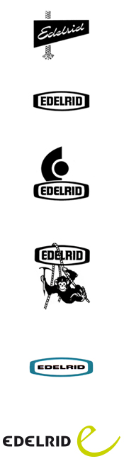 Evolução dos logos da Edelrid
