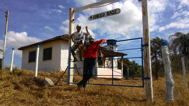 Inaugurando o novo Abrigo Base