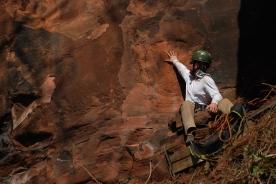 O geólogo tarado é assim, fica tarado quando vê uma estratificação cruzada..