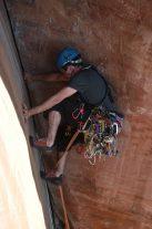Guilherme Oliveira no comecinho da via, antes do teto.